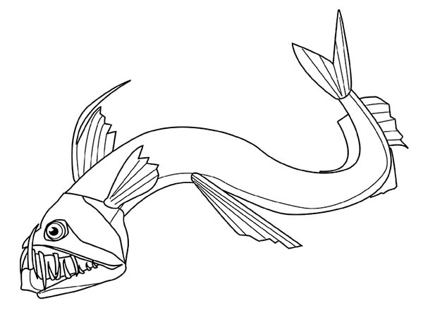 Angler Fish Coloring Page