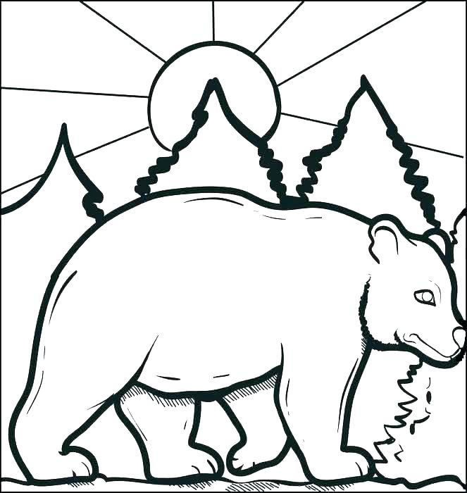 663x700 Black Bear Coloring Pages Coloring Pages Of Black Bears Big Bear