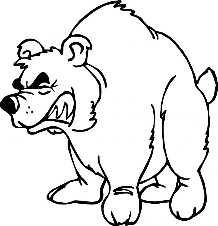 728x756 Alaskan Grizzly Bear Coloring Page Pages Bears Free Christmas