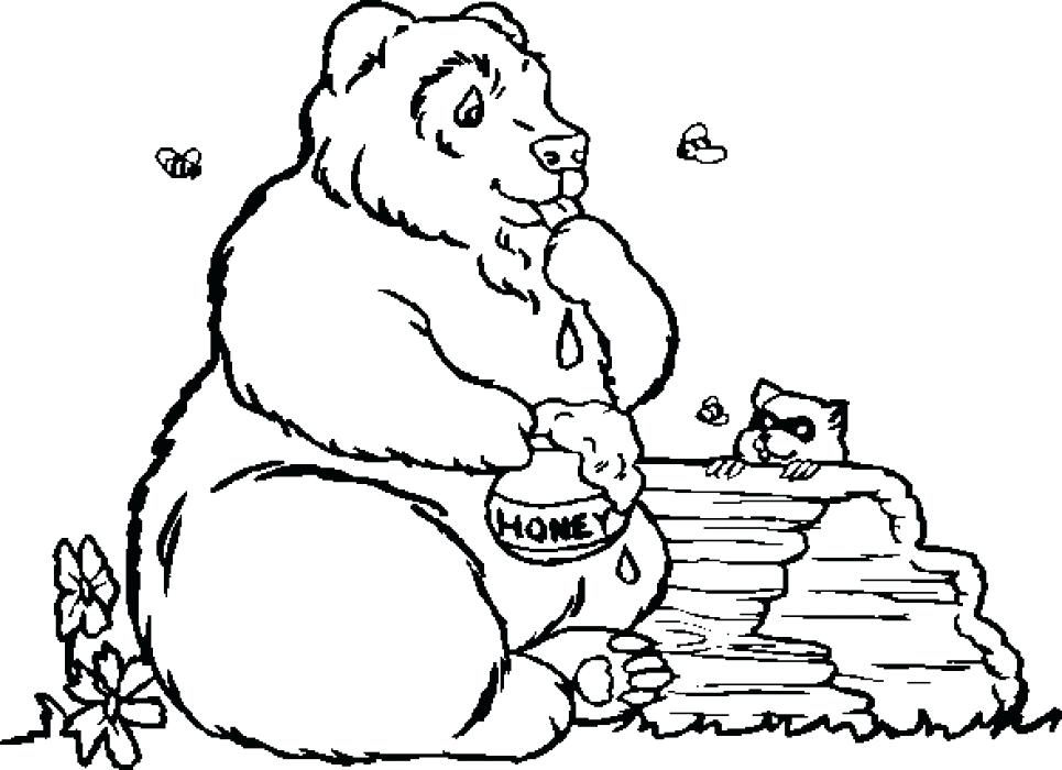 965x700 Coloring Page Of Bear Grizzly Bear Coloring Page Bear Is Angry