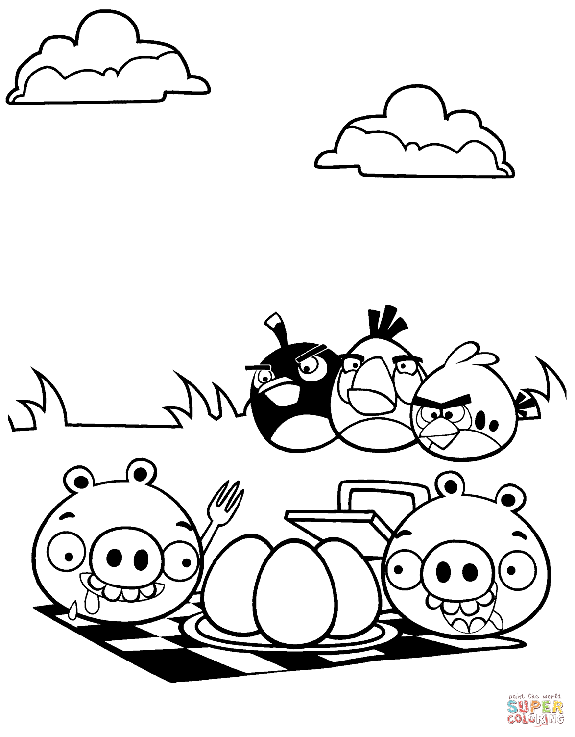 1174x1503 Angry Birds Coloring Page