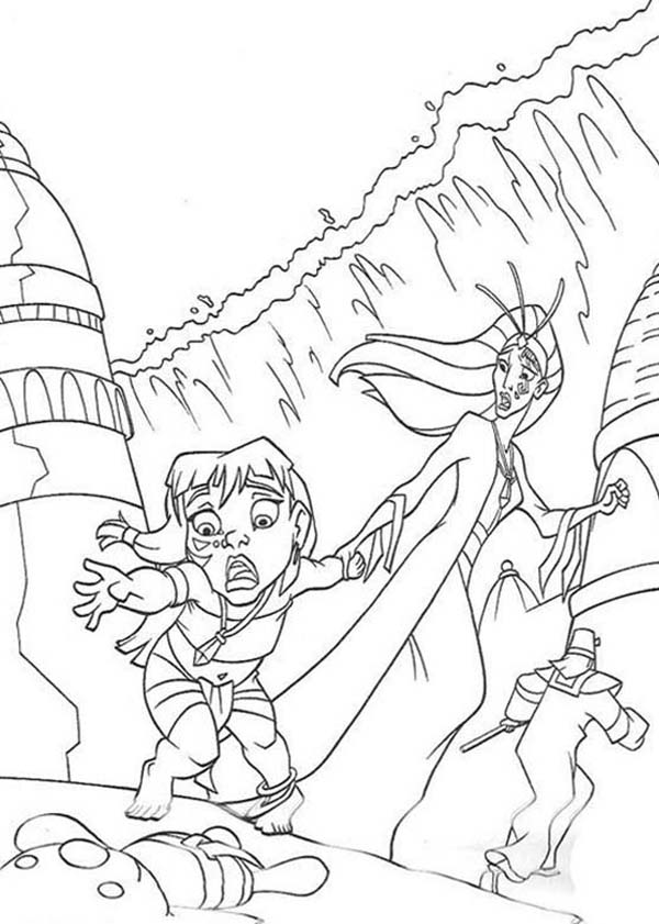 600x841 Milos Daughter Lost Her Teddy Bear In Atlantis Coloring Pages