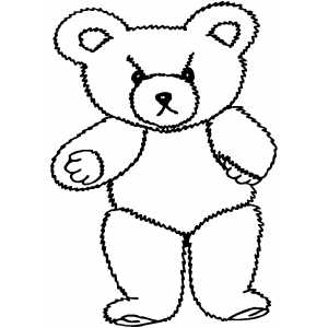 300x300 Angry Teddy Bear Coloring Page