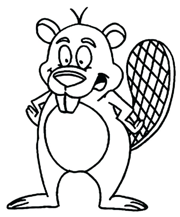 600x726 Beaver Coloring Page Beavers Coloring Pages Cartoon Beaver