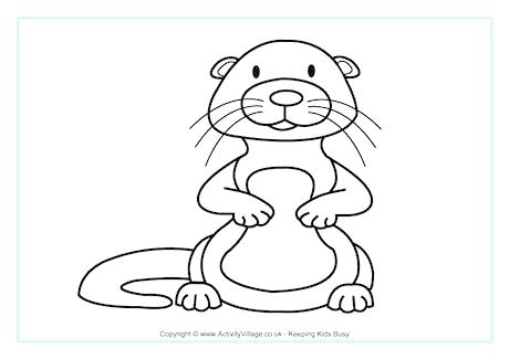 460x325 Beavers Coloring Pages Beaver Colouring Page Angry Beavers