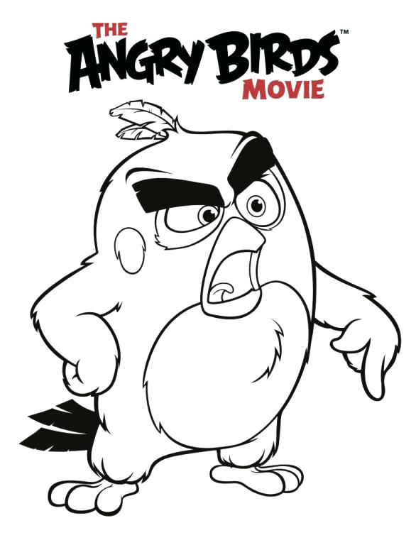 586x768 Angry Birds Coloring Pages Angry Birds Coloring Pages Orange Bird