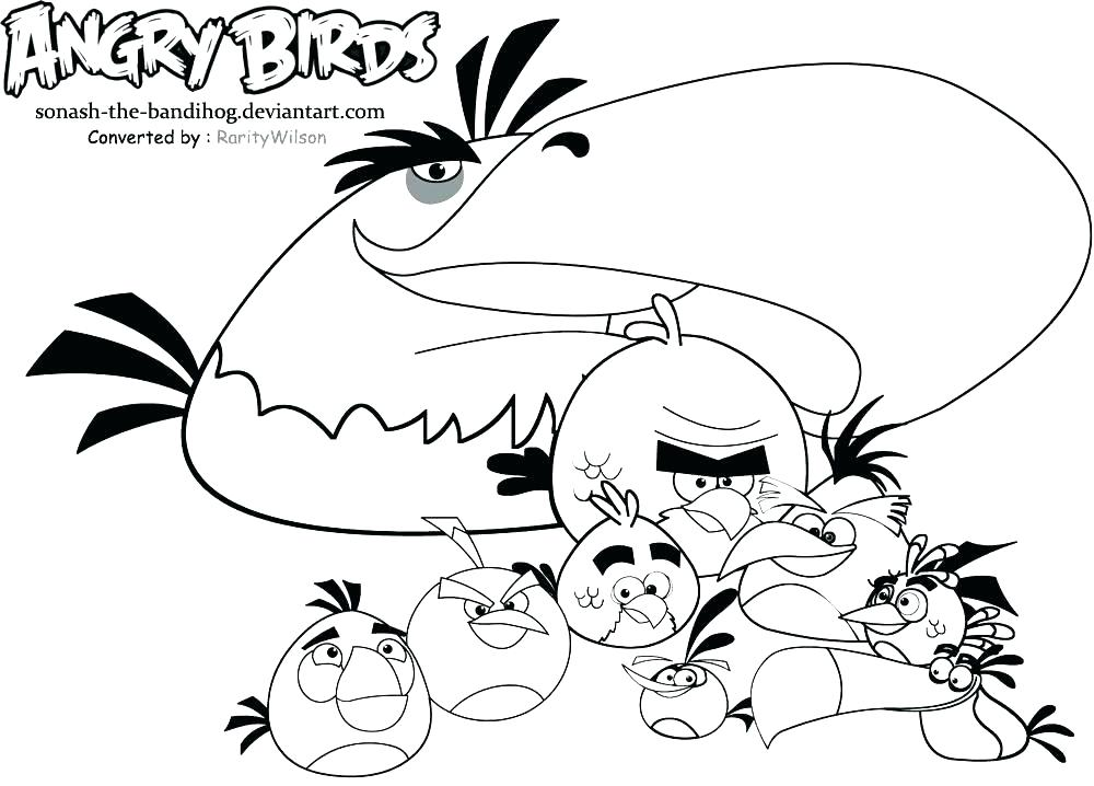 1000x718 Inspiring Coloring Pages Birds On Coloring Pages For Kids Angry
