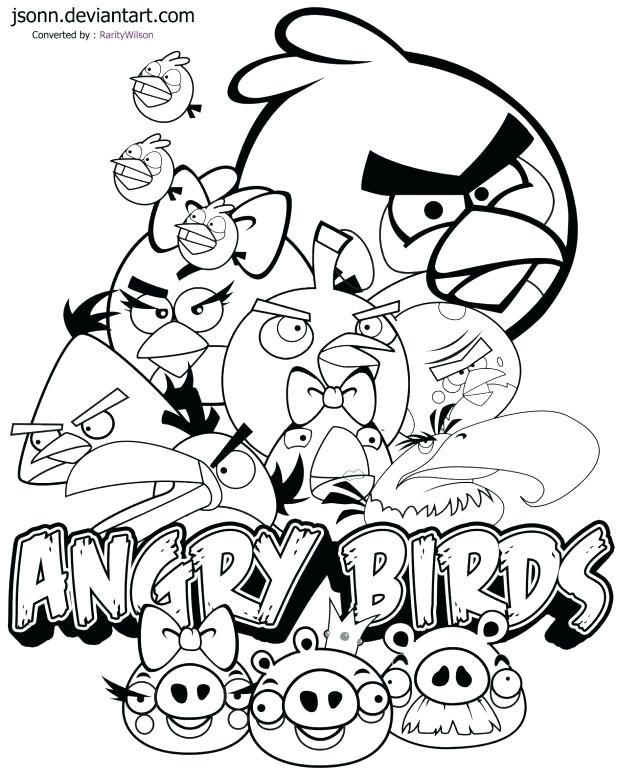 618x783 Angry Birds Coloring Pages Pdf