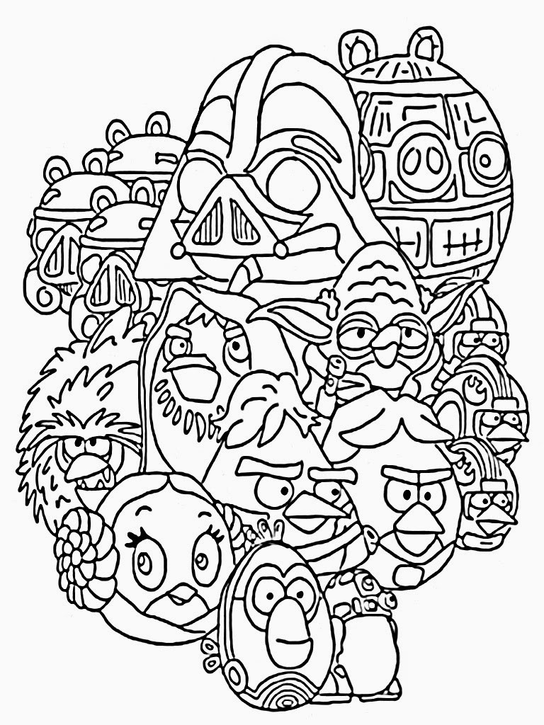 768x1024 Angry Birds Star Wars Coloring Pages Printable Fresh