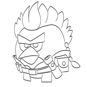300x300 Angry Birds Star Wars Anakin Skywalker Coloring Pages Batch Coloring