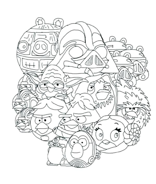 600x706 Angry Birds Star Wars Coloring Book Together With Angry Birds Star
