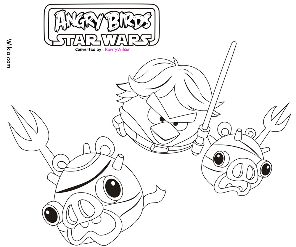 1000x834 Angry Birds Star Wars Coloring Pages Team Colors