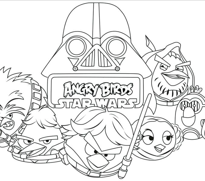 678x600 Star Wars Angry Birds Coloring Pages Angry Birds Star Wars