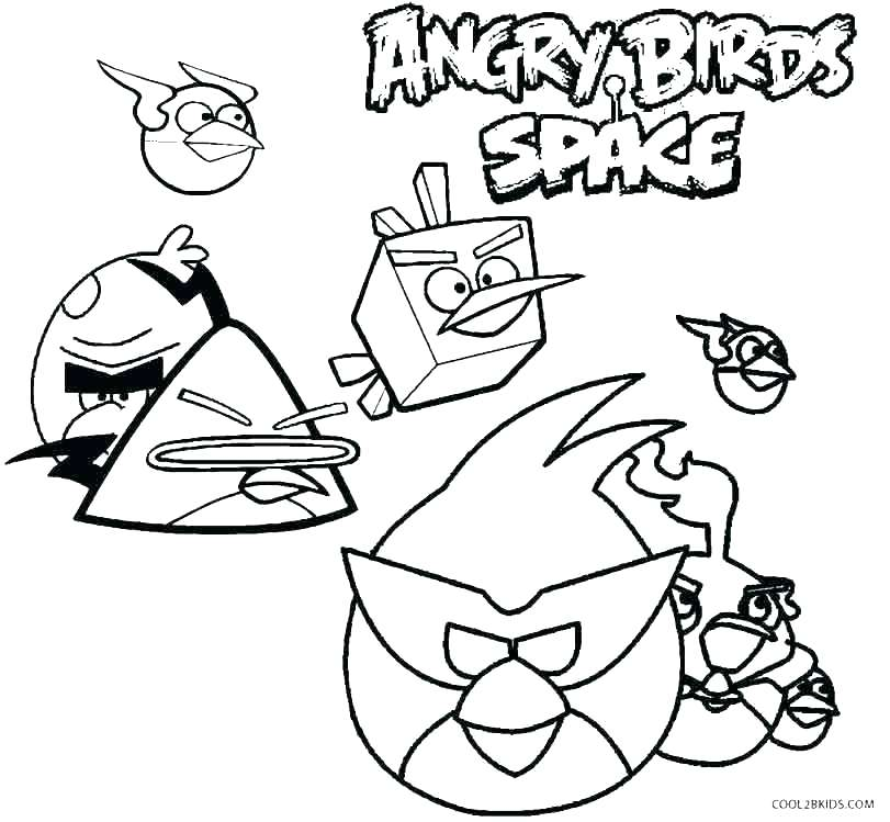 811x749 Angry Birds Coloring Pages