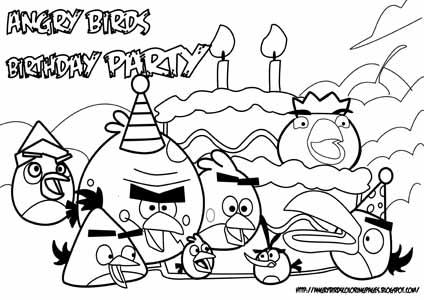 424x300 Angry Birds Pigs Coloring Pages