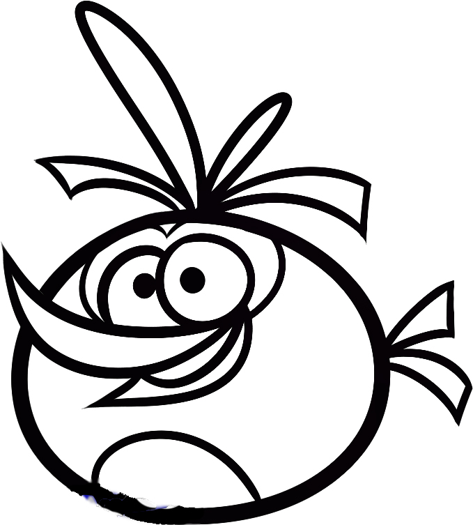 679x753 Printable Angry Birds Coloring Pages