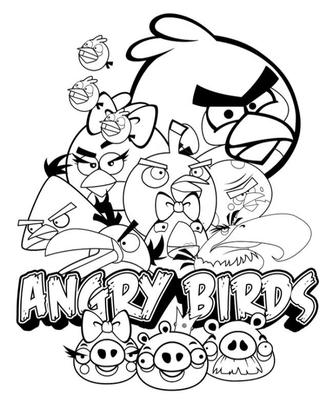 650x798 Angry Birds Poster Coloring Pages Time Toooo Relax