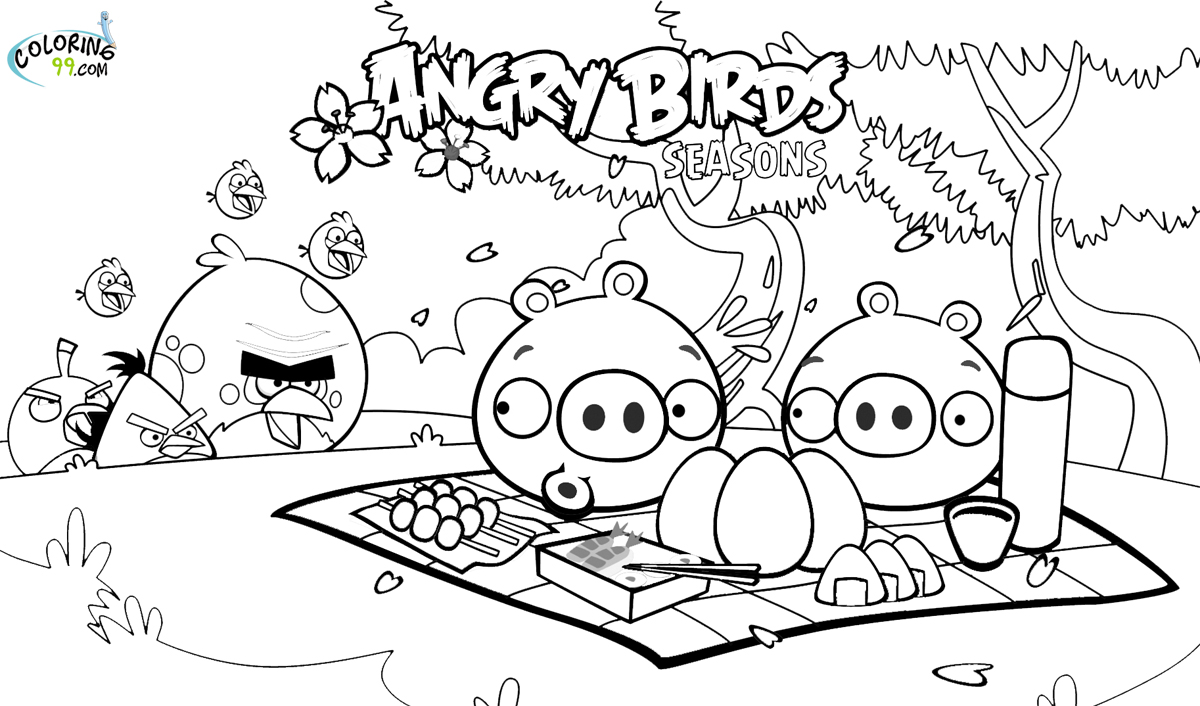 1200x706 Angry Birds Seasons Coloring Pages
