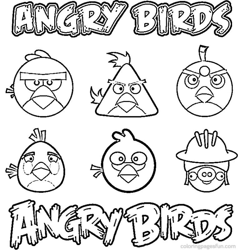 762x800 Angry Birds Toons Coloring Pages Best