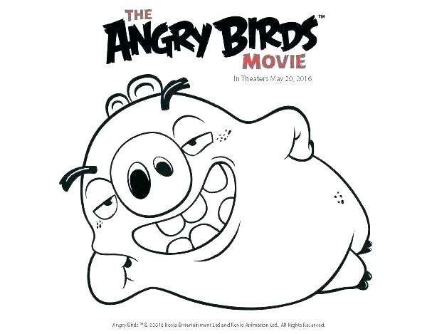 607x469 Angry Bird Coloring Page