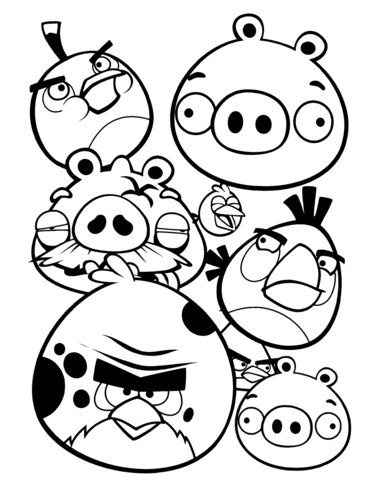 376x480 Angry Bird Coloring Pages Angry Birds Coloring Page Free Printable