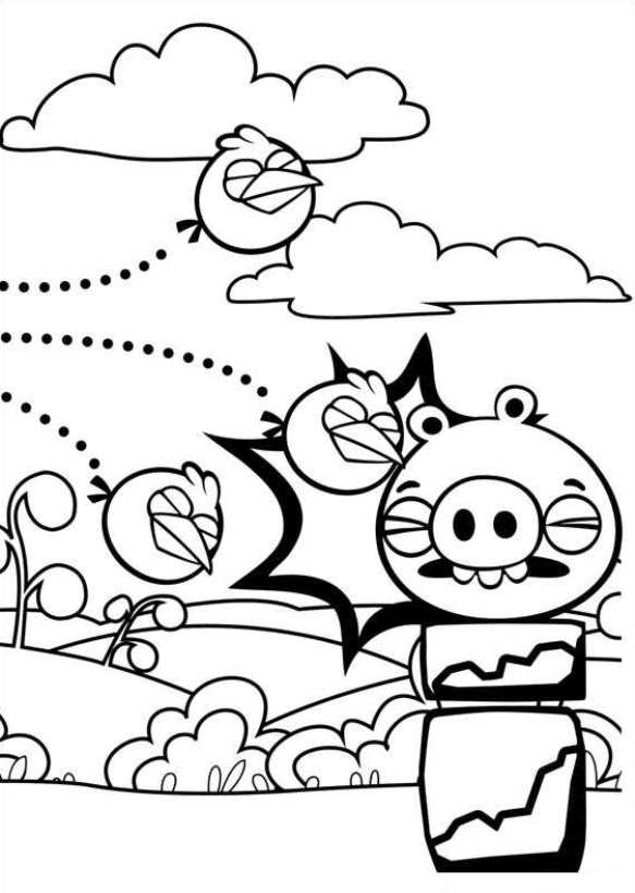 583x820 Kids N Coloring Pages Of Angry Birds