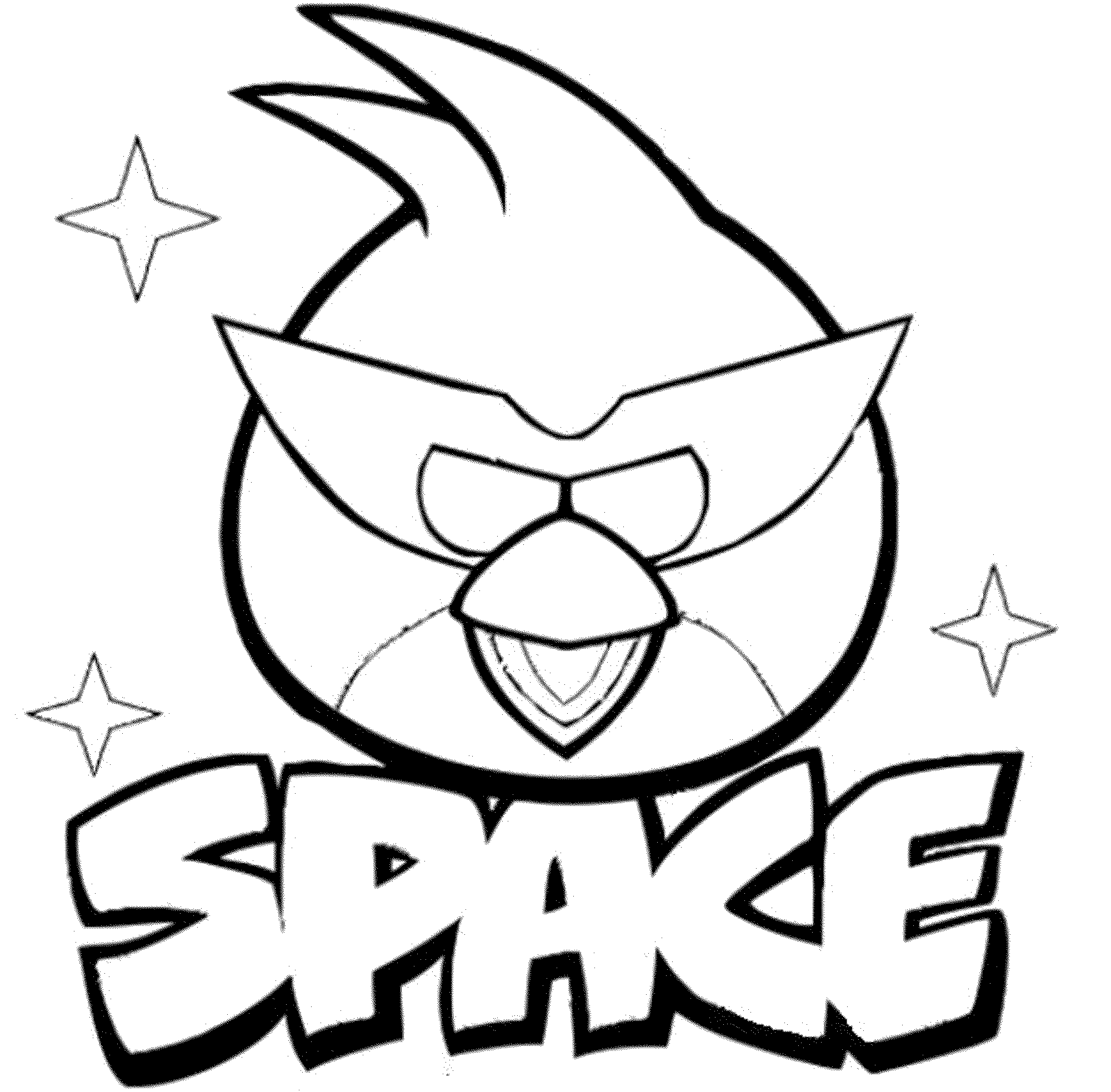 Angry Birds Coloring Pages Red Bird At Getdrawings Com Free For
