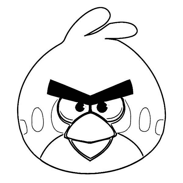 600x600 Red Angry Bird Coloring Page