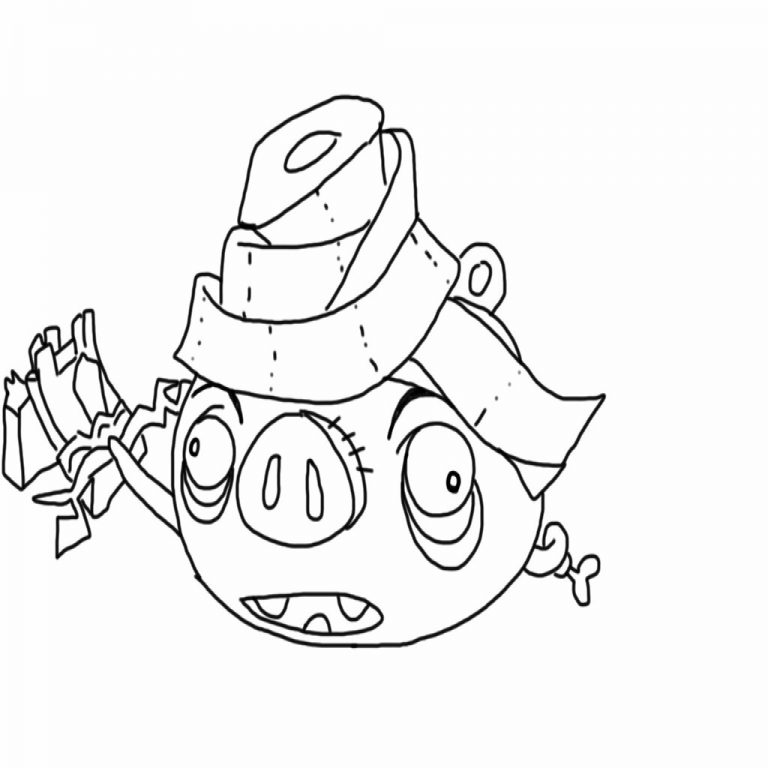 768x768 Angry Birds Epic Coloring Page Mummy Pig My Free Coloring