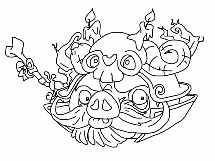 736x552 Angry Birds Epic Coloring Page Wizard Pig