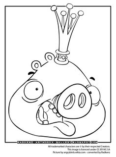 236x317 Angry Birds King Pig Coloring Page Looks Like Math Aids Took