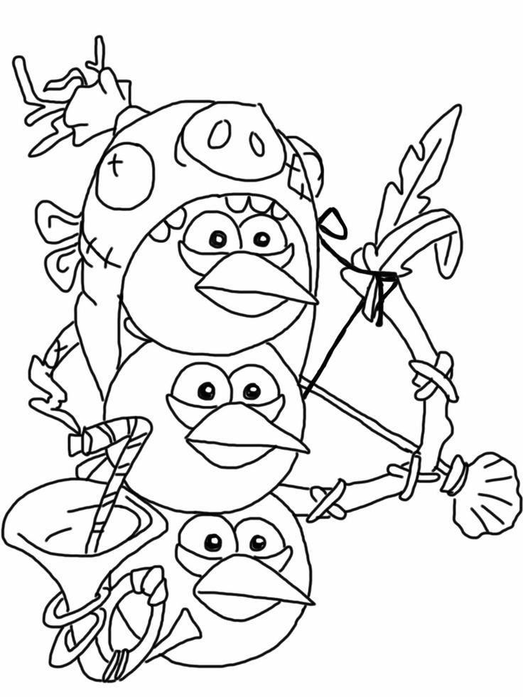736x981 Blue Angry Birds Coloring Pages Coloring Page For Kids Kids Coloring