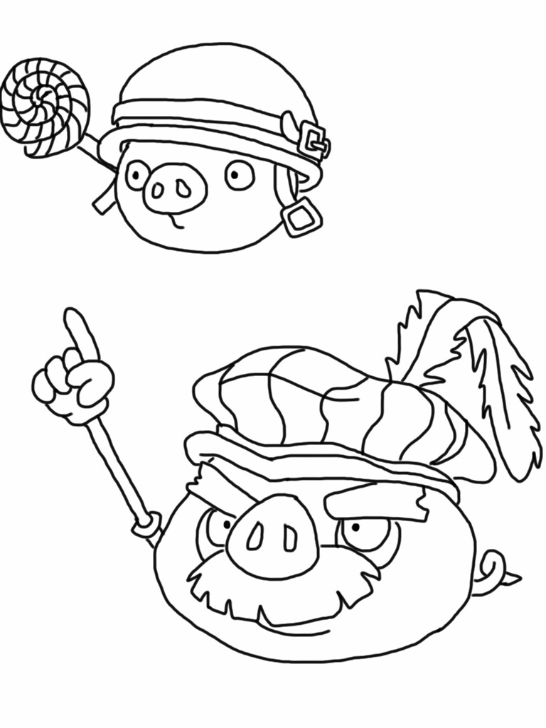 768x1024 Printable Angry Birds Epic Coloring Page Pigs Free Coloring