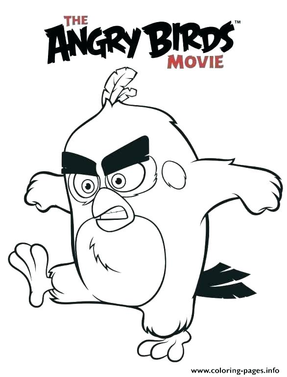Angry Birds Movie Coloring Pages At Getdrawings Com Free