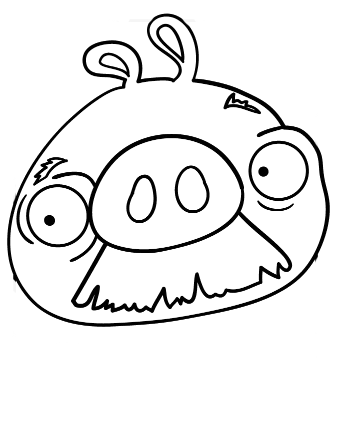 680x849 Angry Birds Pigs Coloring Pages