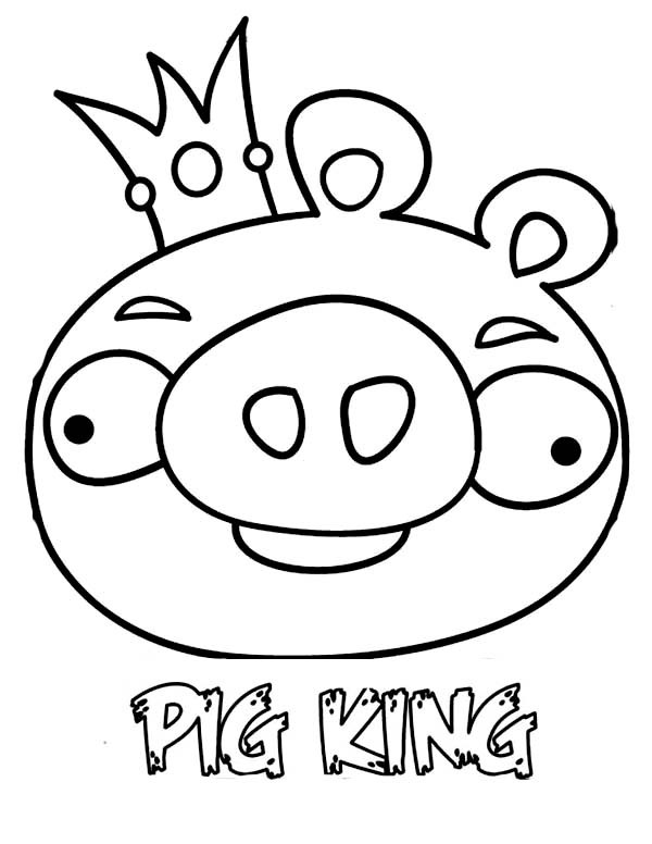600x776 Angry Birds Space The Pig King Coloring Pages Batch Coloring