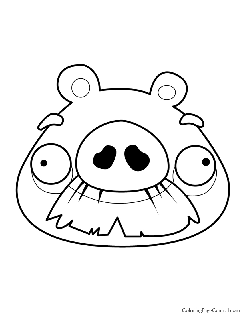 850x1100 Angry Birds Foreman Pig Coloring Page Coloring Page Central