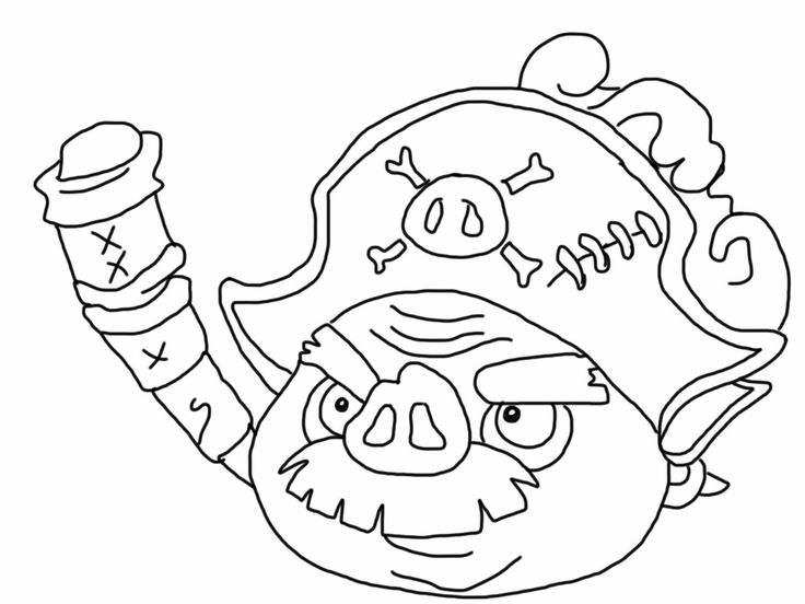 736x552 Angry Birds Epic Pig Coloring Page