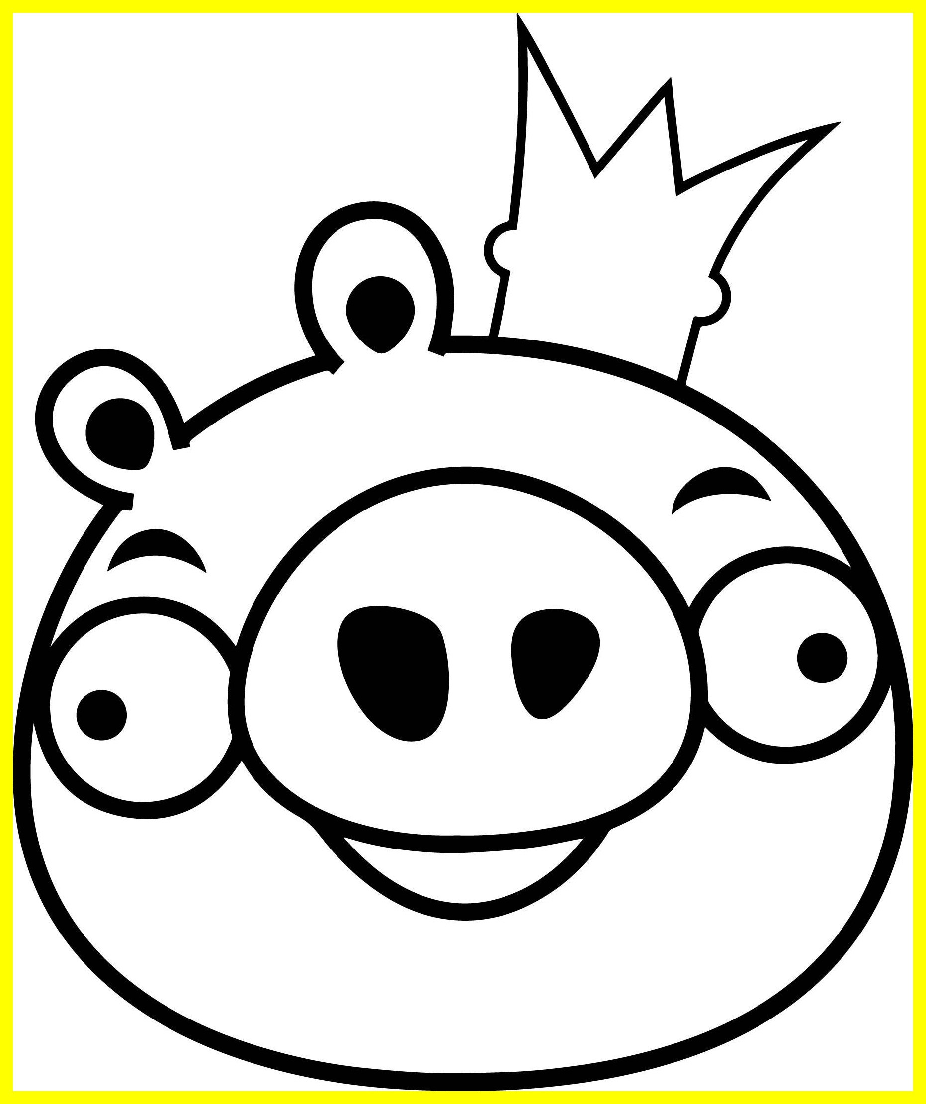 1863x2221 Stunning Angry Bird King Pig Coloring Page Wecoloringpage Picture