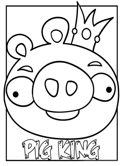 410x547 Angry Birds Pigs Coloring Pages For Kids On Colors