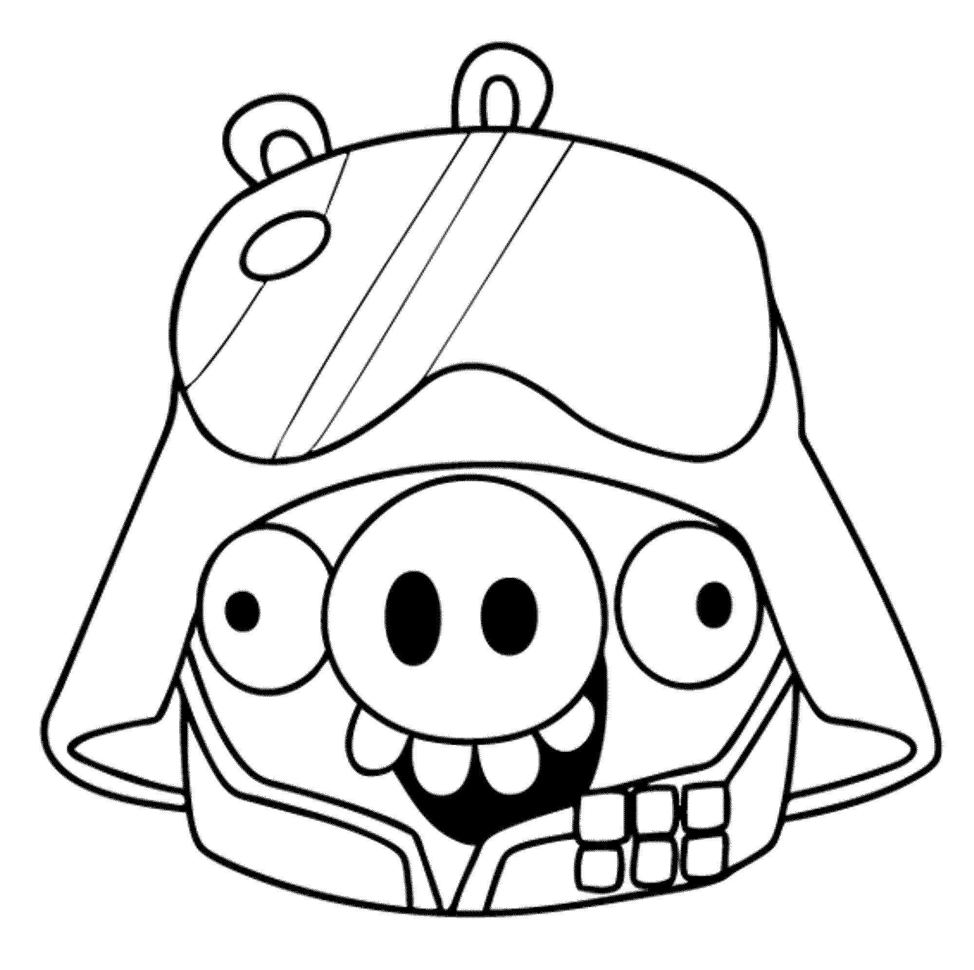 2000x1992 Angry Birds Helmet Pig Coloring Pages Coloring Sheets