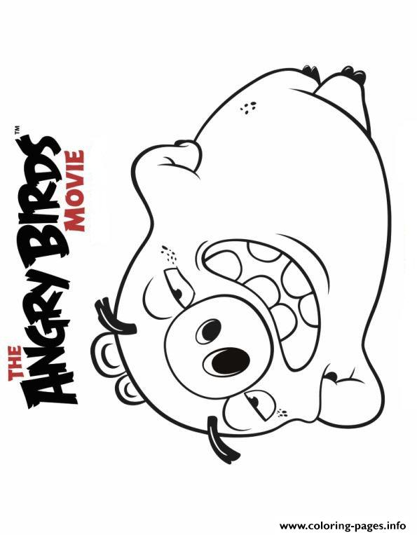 595x763 Angry Birds Movie Pig Coloring Pages Printable