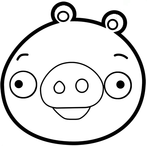 500x497 Angry Birds Pig Printable Coloring Pages