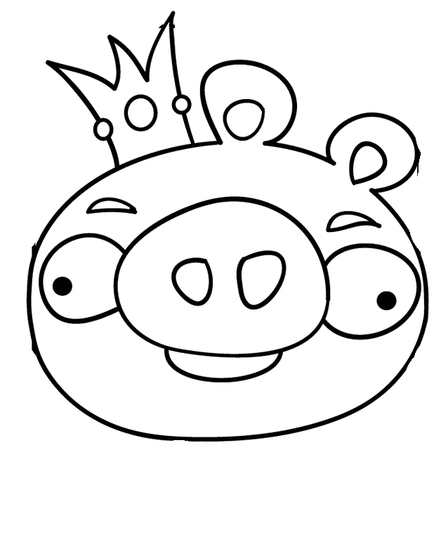 618x778 Angry Birds Pigs Coloring Pages