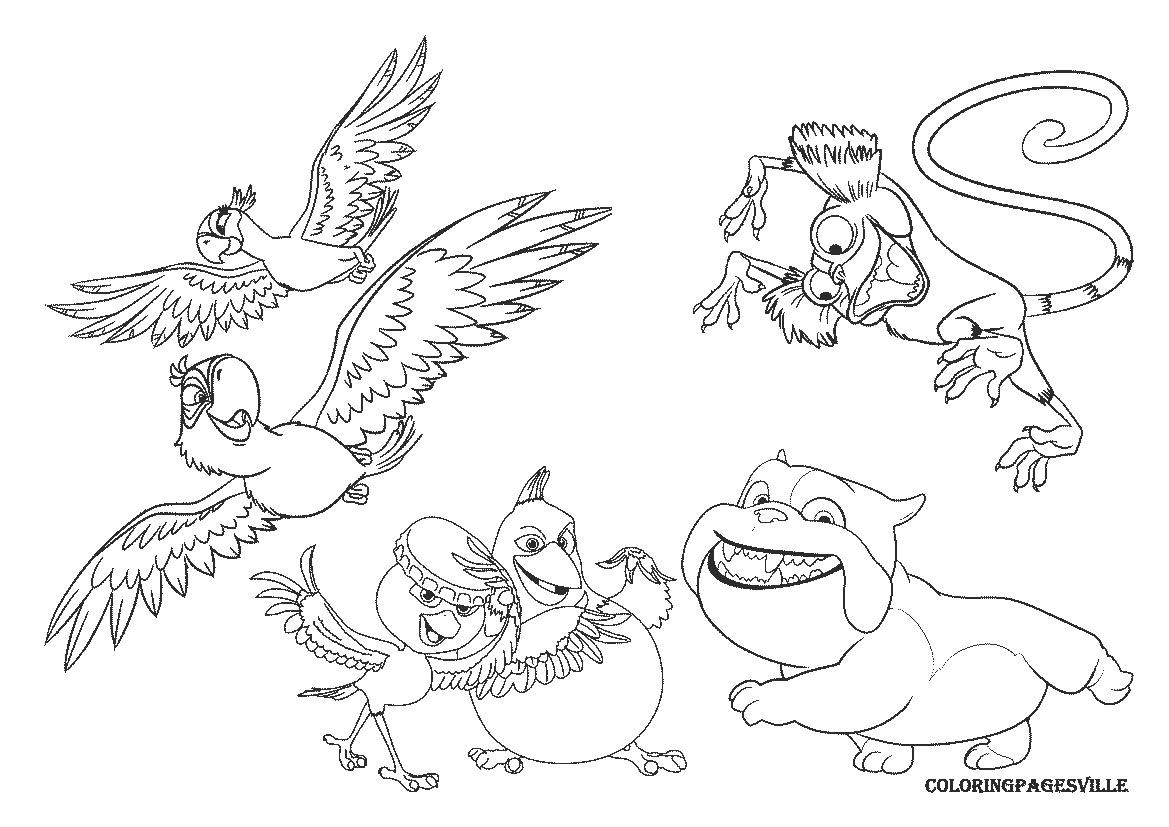 1169x827 Angry Birds Rio Printable Coloring Pages Best Of Bird Go Page