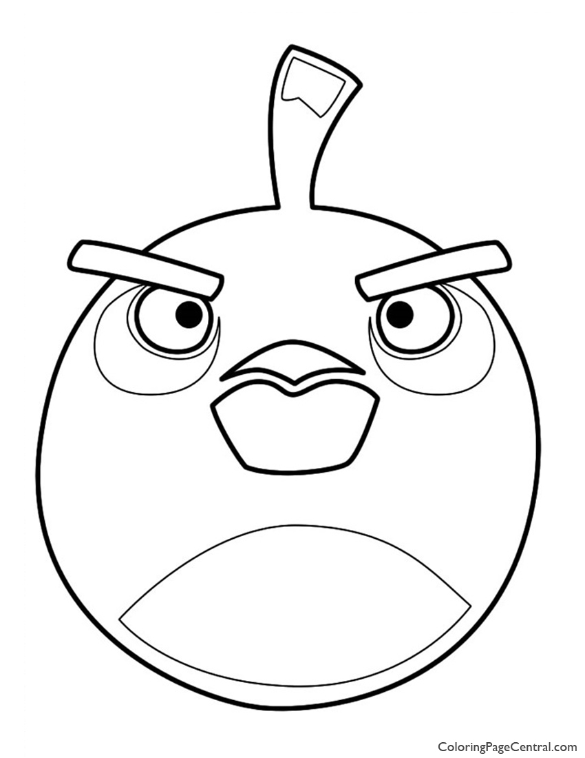 850x1100 Angry Birds Bomb The Black Bird Coloring Page Coloring Page