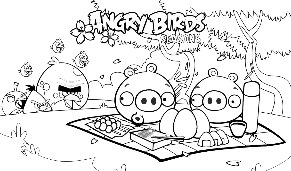 Angry Birds Printables Coloring Pages At Getdrawings