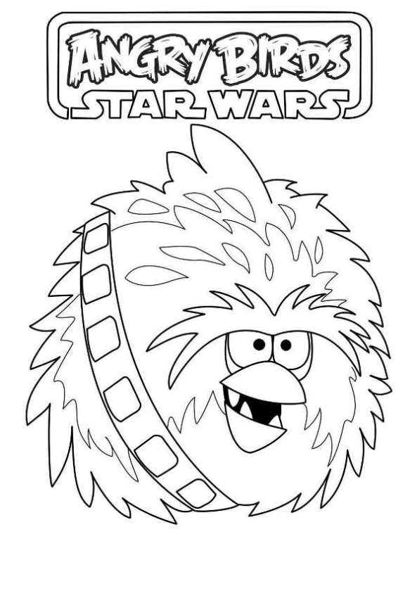 593x840 Star Wars Angry Birds Coloring Pages Kids N Fun Coloring Pages