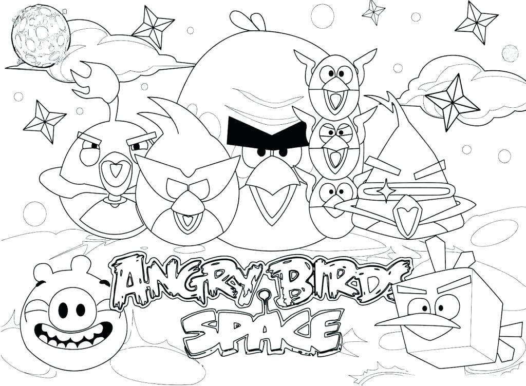 1024x752 Angry Bird Space Coloring Pages Angry Birds Space Coloring Pages