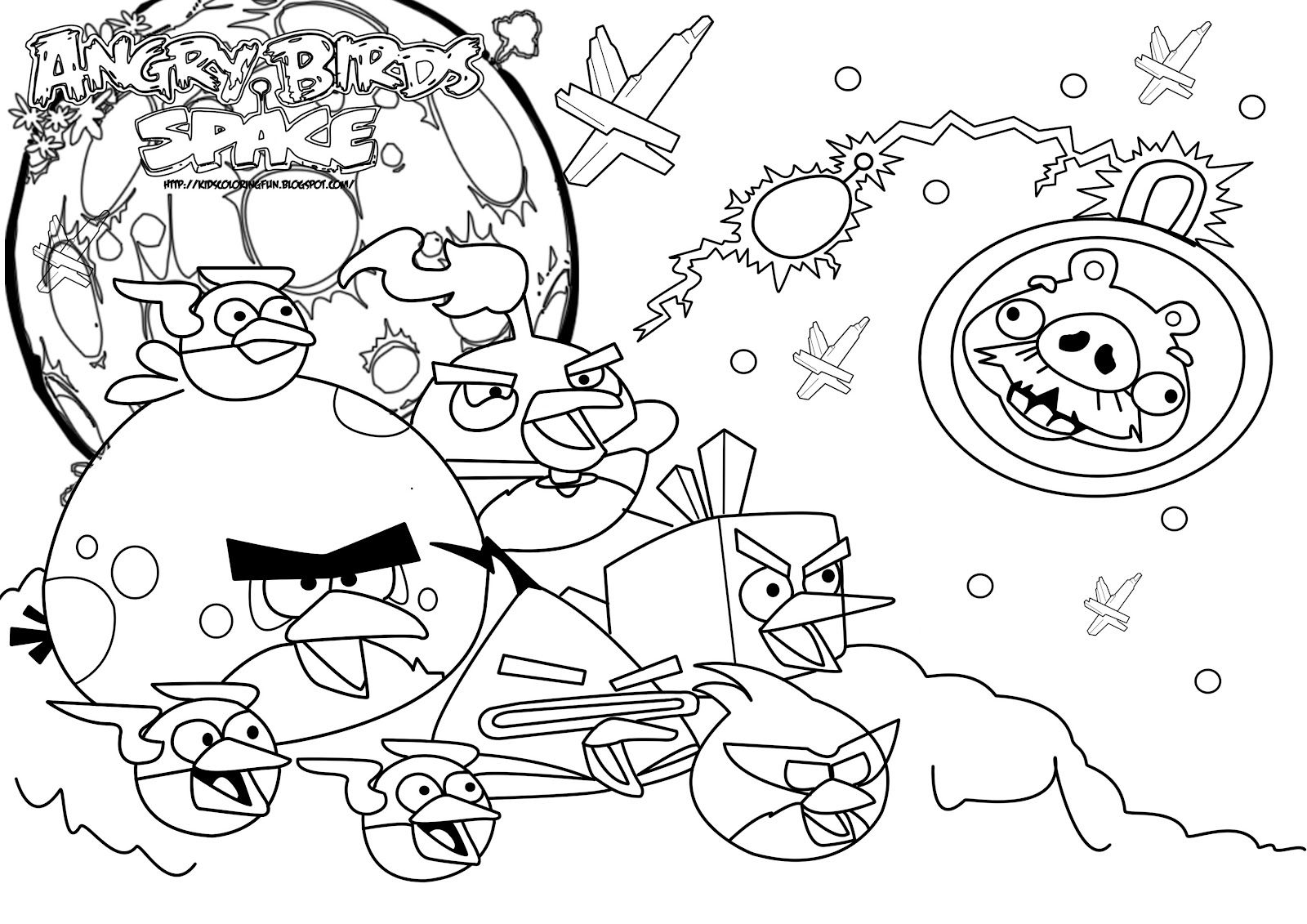 1600x1131 Angry Birds Space Coloring Page Free Pages I N
